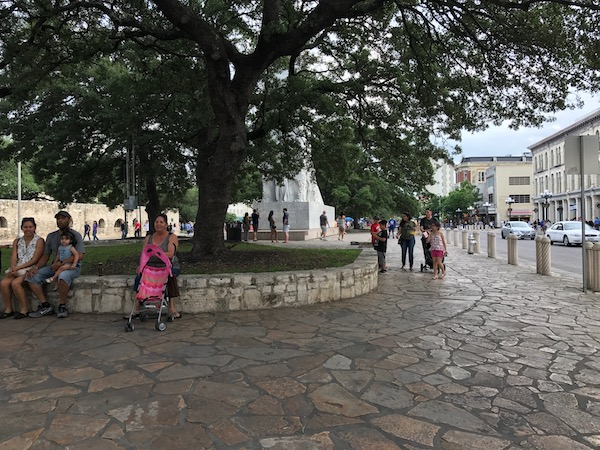 Alamo Plaza at Houston Street