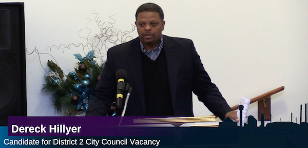 Dereck Hillyer Candidate for City Council District 2