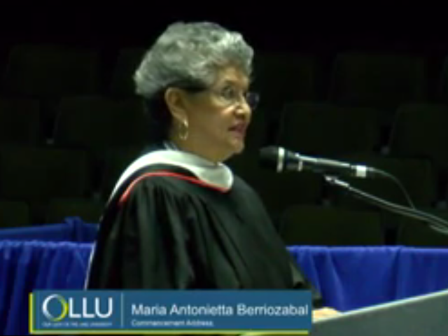 Maria Berriozabal speaks at OLLU