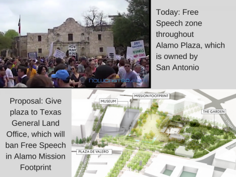 Free Speech Zone at Alamo