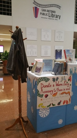 Central Library slothing donation station