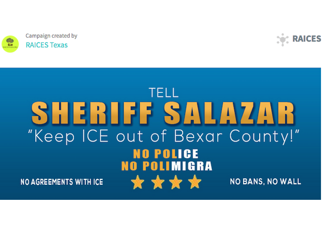 Petition to Sheriff Salazar