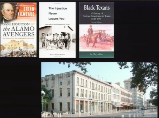 Books that describe different narratives of the Alamo history