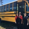 Southside ISD School Bus delivering meals